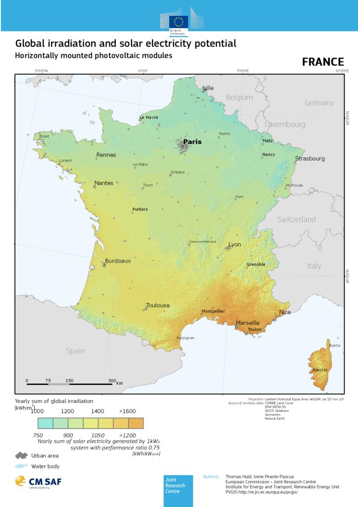 carte eu hor FR 724x1024 - Carte potentiel photovoltaïque - Carte potentiel photovoltaïque