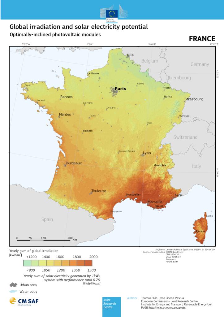 carte eu opt FR 724x1024 - Carte potentiel photovoltaïque - Carte potentiel photovoltaïque