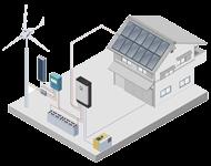 schema eolien solaire isole hybride - Génération solaire - Génération solaire